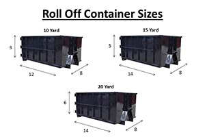 Roll off containers